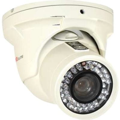 REVO Elite Wired Home Security Camera, Night Vision, White