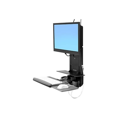 Ergotron ® 61-080-085 StyleView ® Sit-Stand Vertical Lift for Flat Panel; Black