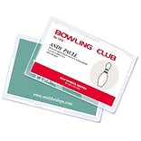Royal Sovereign  5 mil Thermal Laminating Pouch Film; Credit Card, 100/Pack (RF05CRDT0100)