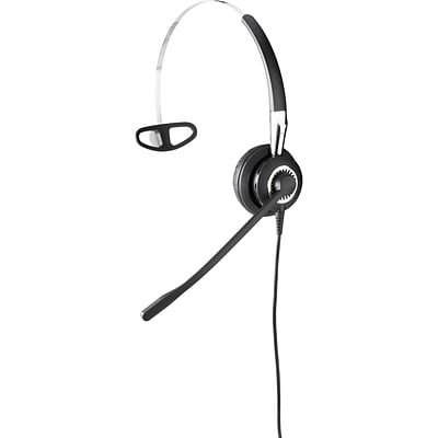 Jabra  BIZ 2400 II QD Over-the-Head 3-in-1 Mono Headset with Noise-Cancelling Microphone; Black