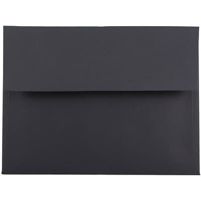 JAM Paper® A6 Invitation Envelopes, 4.75 x 6.5, Black, 1000/carton (22115363B)