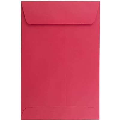 JAM Paper® 6 x 9 Open End Envelopes, Brite Hue Red Recycled, 100/pack (V0128139)