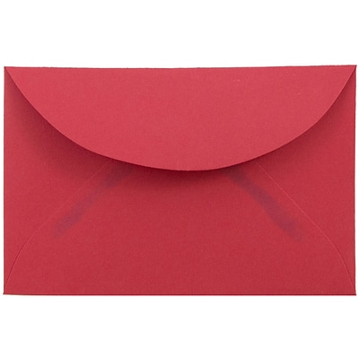 JAM Paper® 3drug Mini Small Envelopes, 2 5/16 x 3 5/8, Brite Hue Red Recycled, 1000/carton (155031B)