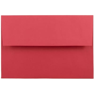JAM Paper® A8 Invitation Envelopes, 5.5 x 8.125, Brite Hue Red Recycled, 25/pack (27799)