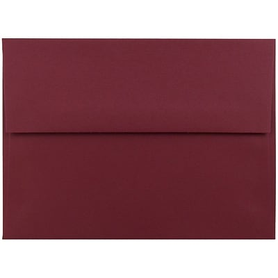 JAM Paper® A6 Invitation Envelopes, 4.75 x 6.5, Dark Red, 250/box (157458H)