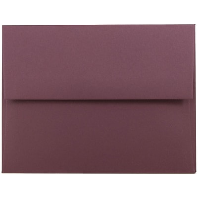 JAM Paper® A2 Invitation Envelopes, 4 3/8 x 5 3/4, Burgundy, 50/pack (36395847I)