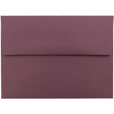 JAM Paper® A6 Invitation Envelopes, 4.75 x 6.5, Burgundy, 250/box (36395843H)