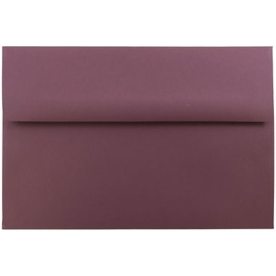 JAM Paper® A8 Invitation Envelopes, 5.5 x 8.125, Burgundy, 50/pack (36395845I)