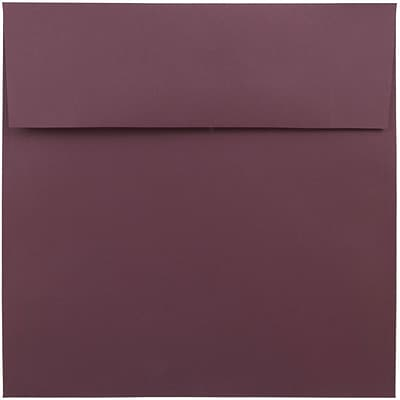 JAM Paper® 8.5 x 8.5 Square Envelopes, Burgundy, 250/box (36395841H)