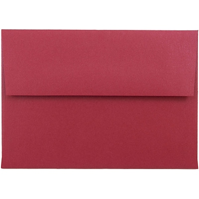 JAM Paper® 4bar A1 Envelopes, 3 5/8 x 5 1/8, Stardream Metallic Jupiter Red, 50/pack (V018247I)
