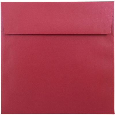 JAM Paper® 6.5 x 6.5 Square Envelopes, Stardream Metallic Jupiter Red, 25/pack (SD853520)