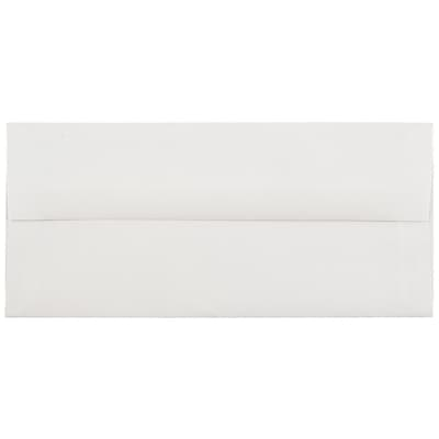JAM Paper® #10 Business Envelopes, 4 1/8 x 9 1/2, Strathmore Bright White Laid, 50/pack (191166I)