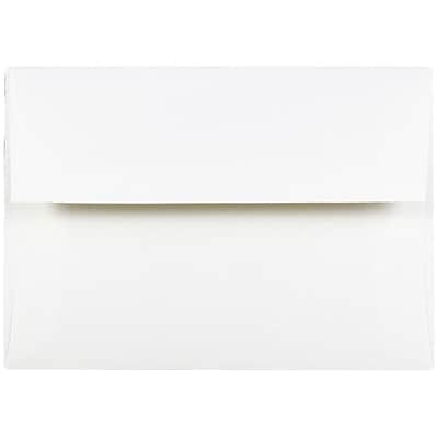 JAM Paper® A7 Invitation Envelopes, 5.25 x 7.25, Strathmore Bright White Wove, 250/box (STTW711H)