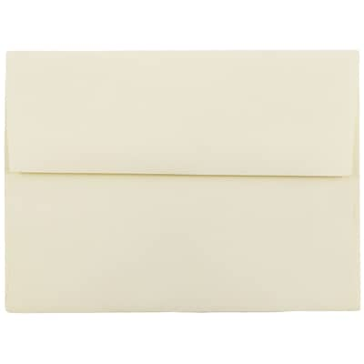 JAM Paper® A6 Invitation Envelopes, 4.75 x 6.5, Strathmore Ivory Wove, 250/box (900913185H)