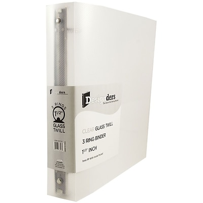JAM Paper® Plastic 3 Ring Binder, 1.5 Inch, Clear, Sold Individually (762T15CL)