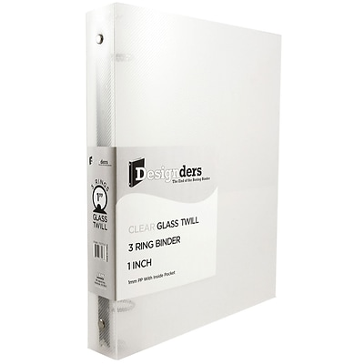 JAM Paper® Plastic 3 Ring Binder, 1 Inch, Clear, Sold Individually (751T1CL)
