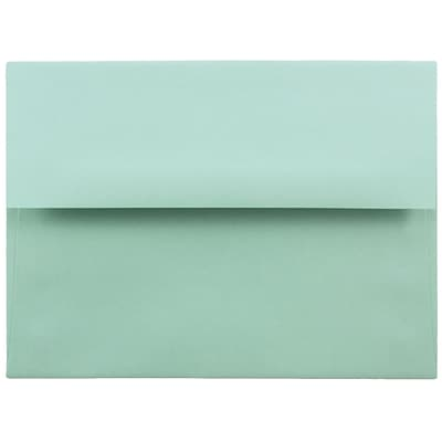 JAM Paper® A6 Invitation Envelopes, 4.75 x 6.5, Aqua Blue, 250/box (157460H)
