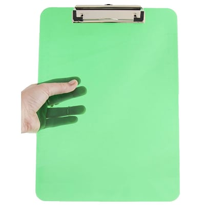 JAM Paper® Plastic Clipboard, 9 x 13, Green, Sold Individually (340926880)