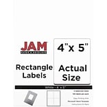 JAM Paper® Mailing Address Labels, 4 x 5, White, 120/pack (4062903)