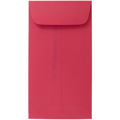 Jam Paper(r) #7 Coin Envelopes, 6.5 X 3.5, Brite Hue Red Recycled, 1000/carton (355228282c)