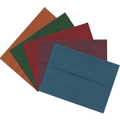 JAM Paper® A6 Invitation Envelopes, 4.75 x 6.5, Assorted, 125/pack (157A6DTGORBR)