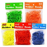 JAM Paper® Rubber Bands, #33 Size, Assorted Rubberbands, 5 packs of 100, 500 per set (333RBREBGYO)