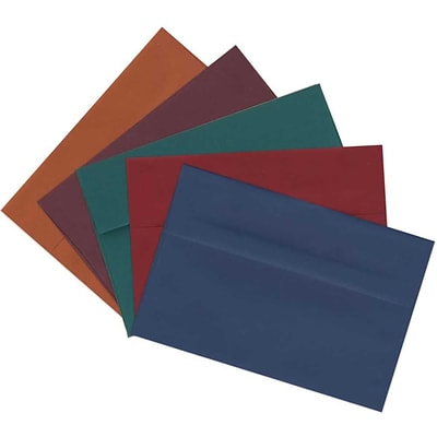 JAM Paper® A8 Invitation Envelopes, 5.5 x 8.125, Assorted, 125/pack (639A8BORTB)
