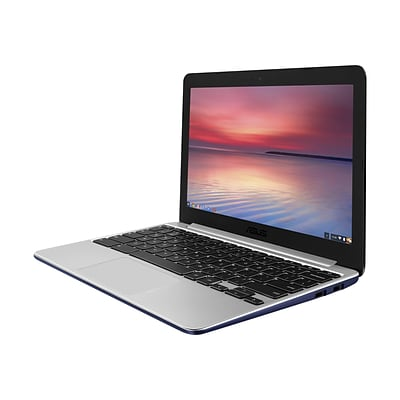 ASUS C201PA-DS02 11.6 Chromebook 16GB SSD Laptop; Navy Blue