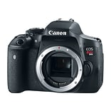 Canon® EOS Rebel T6i EF-S 24.2 MP DSLR Camera with 18 - 55 mm Lens Video Creator Kit; Black