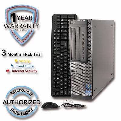 Refurbished DELL 790 250G HDD 4G DDR3 RAM, Core I3 2100 3.1GHz, W7Pro 64