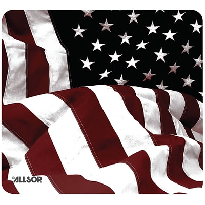 Allsop Old-fashioned American Flag Mouse Pad, Multicolored 29302)