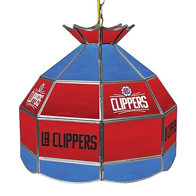 Trademark Global® 16 Tiffany Lamp, Los Angeles Clippers NBA