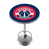 Trademark Global® 27.37 Solid Wood/Chrome Pub Table, Blue, Washington Wizards NBA