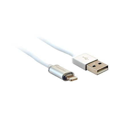VisionTek  6.6L; White, Charge and Sync Cable, Lightning to USB (900795)