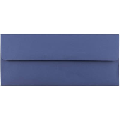 JAM Paper® #10 Business Envelopes, 4 1/8 x 9 1/2, Presidential Blue, 50/pack (463916900I)
