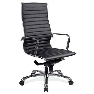 OfficeSource Nova Series Executive Mid Back Chair, 42 - 45H x 22W x 20.5D