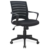 Elan Fabric and Mesh Task Chair w/Arms, Bla