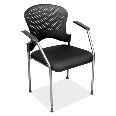 OfficeSource 2894TGBLK Casi Series Guest Side Chair with Arms