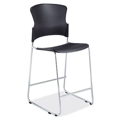 OfficeSource Stacked Series, Cafe Height Stool, 47H x 20.5W x 22.75D