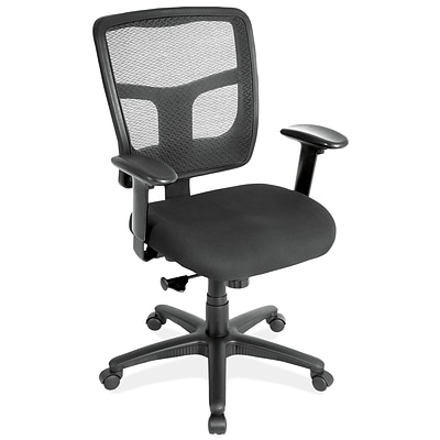 OfficeSource 7621AABLK CoolMesh Basic Series Task Chair with Arms
