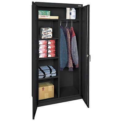 OfficeSource Deluxe Storage Cabinets Series, Combination Wardrobe/Storage, 72H x 36W x 18D
