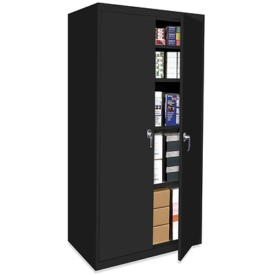 OfficeSource Budget Storage Cabinets Series, 4 Shelf Cabinet, Black
