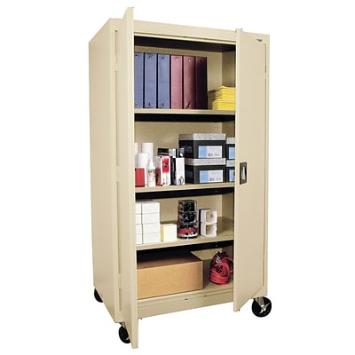 OfficeSource Mobile Storage Cabinets 3-Adjustable-Shelf Mobile Cabinet (9551WCPTY)