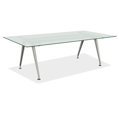 OfficeSource OS Frosted Glass Conference Tables, Rectangular Conference Table, Seats 6