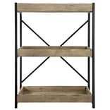 A&B Home Wood and Metal Low 35 Etagere