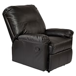 OSP Designs Kensington Metal, Wood, Leather & Foam Recliner, Black