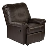 OSP Designs Kensington Metal, Wood, Leather & Foam Recliner, Espresso