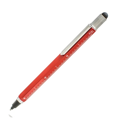 Monteverde One Touch Tool Inkball Pen with Stylus, Red (MV35254)