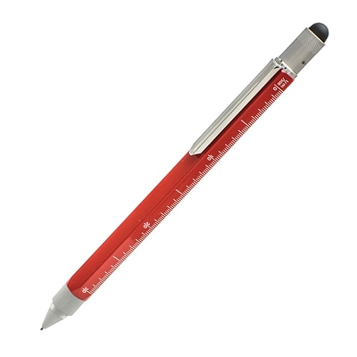 Monteverde One Touch Tool 0.9MM Pencil with Stylus, Red , (MV35243)
