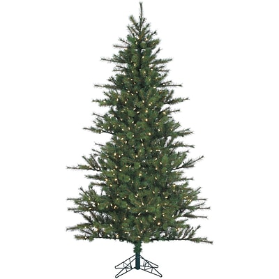 7.5 Ft. Southern Peace Pine Christmas Tree with Clear LED Lighting
